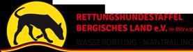 Rettungshundestaffel Bergisches Land e.V. im DRV e.V. Logo